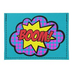 Boom! Card Case Wallet. The Tyvek® Card Case Wallet, Black with Back Threading http://www.zazzle.com/boom_card_case_wallet-256094235002109881 #design #wallet #comics #popart