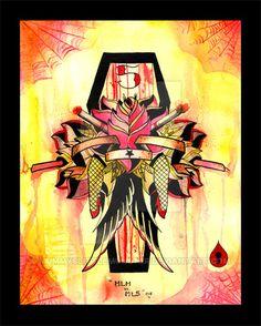 Sinners Rose by MummysLittleMonster on DeviantArt Appreciation, Deviantart, Tattoo, Rose, Painting, Design, Pink, Painting Art