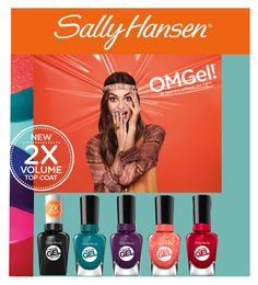 """""""No Light Gel: Nail It in 2 Steps with Sally Hansen® Miracle Gel™: Contest Entry"""" by silent-dreamer ❤ liked on Polyvore featuring beauty and Sally Hansen"""