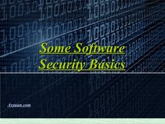 Check out the PPT above that describes some software security basics and small information about Hackers and Ethical Hackers.