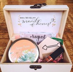 Will you be my maid of honor box Such a sweet idea to pop the question in a special way to your maid of honor