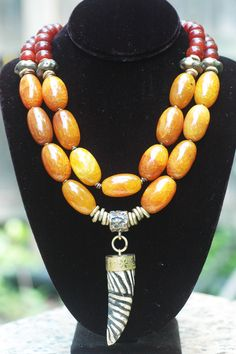 Dalai Lama: Yellow Agate, Carnelian, Bronze and Tibetan Zebra Horn Bold Necklace Dyi Necklace, Bold Necklace, Diamond Cross Necklaces, Diamond Solitaire Necklace, Cluster Necklace, Multi Strand Necklace, Beaded Necklace, Wooden Necklace, Diamond Bracelets