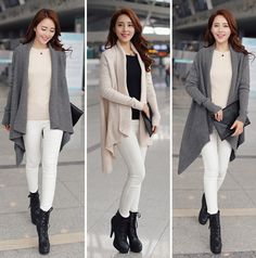 Its perfect! Stylish knit cardigan sweater with asymmetric hem. Warm, comfortable, and chic!