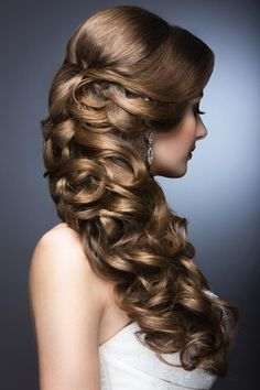Wedding Hair Trends - The Best Wedding Hairstyles For This Year. Browse Our Favorite Web Pages For More Info. Hair Design For Wedding, Long Hair Wedding Styles, Wedding Hair Inspiration, Long Hair Styles, Hairdo Wedding, Wedding Hairstyles For Long Hair, Wedding Hair And Makeup, Bridal Hairstyles, Wedding Dress