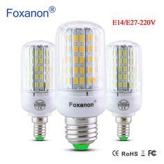 new arrival E27 E14 220V LED Lamp LED Bulb Corn 24 30 42 64 80 89 108 136 Leds Lamp Light Bulbs