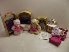 Fisher Price Briarberry Collection Bears Case Dresser Armoir Bed Clothing Lot | eBay