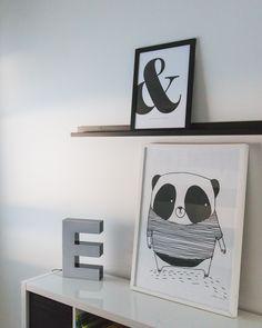 Lastenhuoneen mustavalkoinen sisustus