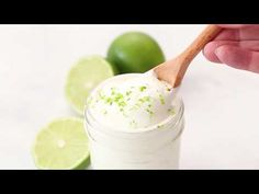 Lime crema is used as a fish taco cream sauce but I use it on ALL the tacos. Leftovers are perfect in tortilla soup and Mexican-style baked potatoes too! Lime Recipes, Mexican Food Recipes, Real Food Recipes, Cooking Recipes, Shredded Pork Tacos, Types Of Tacos, Crema Recipe, Stuffed Baked Potatoes, Lime Cream
