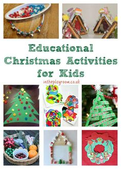 Educational christmas activities for kids winter activities Christmas Activities For Kids, Holiday Crafts For Kids, Preschool Christmas, Crafts For Kids To Make, Family Christmas, Christmas Ideas, Kids Crafts, Children Activities, Christmas Art