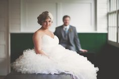 #Wtoo dress, Tessa Kim hair piece by Chellise Michael Photography #ruffles #weddingdress