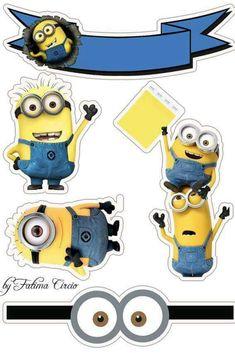 Fiesta piscina Minions Birthday Theme, Minion Theme, Leo Birthday, Minion Party, Minion Stickers, Cute Stickers, Minion Template, Bolo Minion, Paw Patrol Birthday