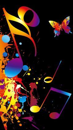 By Artist Unknown. Dance Wallpaper, Love Wallpaper, Galaxy Wallpaper, Wallpaper Backgrounds, Iphone Wallpaper, Wallpapers, Music Notes Art, Music Artwork, Music Music