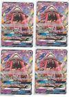 4x LOT Pokemon SUN & MOON GUARDIANS RISING Gx Rare TAPU LELE 60/145 @