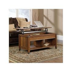 Amazon.com: Sauder Carson Forge Lift-Top Coffee Table, Washington Cherry Finish: Kitchen & Dining