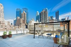 Walk out of your terrace to witness sweeping views coming from the penthouse of 419 West 55th Street.  http://www.halstead.com/sale/ny/manhattan/midtown-west/419-west-55th-street/condop/1877245