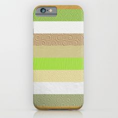 Vintage embossed paper stripes collage by Natalia Bykova iPhone & iPod Case at #Society6. #striped, #iphonecase, #ipodcase