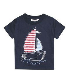 Look what I found on Navy Sailboat Tee - Infant, Toddler & Boys by JoJo Maman Bébé Boys Summer Outfits, Cute Outfits For Kids, Boy Outfits, Little Boy Fashion, Kids Fashion Boy, Boys Clothes Style, Toddler Boys, Infant Toddler, Kids Prints