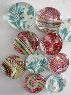 Glass Refrigerator Magnets are an inexpensive item that you can sell in bulk online at at craft shows. Glass magnets look nice, are easy to make and sell at craft sales.