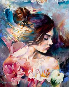 "rexisky: ""Captivated (30 x 24″, Oil on Canvas) by Dimitra Milan "" #OilPaintingOcean"