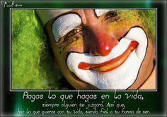 La sonrisa... el payaso... la felicidad... :-)