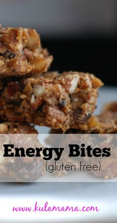 Gluten-Free Energy Bites for when you're on the go, at work, and just need a little pick-me-up!
