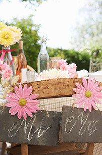 Use wild and local flowers for your decor. | 15 Tips For The Perfect Destination Wedding