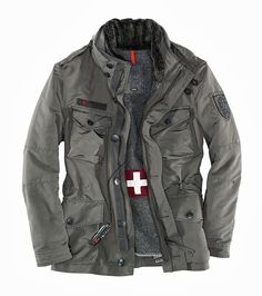 """- Strellson Swiss Cross jacket """"J. Outdoor Outfit, Outdoor Gear, Gouts Et Couleurs, Tactical Clothing, Mens Fashion, Fashion Outfits, Style Me, Cool Outfits, Winter Jackets"""