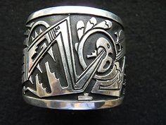 """HUGE TOMMY SINGER STERLING SILVER OVERLAY BRACELET  SIGNED """"T. SINGER STERLING"""" - http://elegant.designerjewelrygalleria.com/tommy-singer/huge-tommy-singer-sterling-silver-overlay-bracelet-signed-t-singer-sterling-2/"""