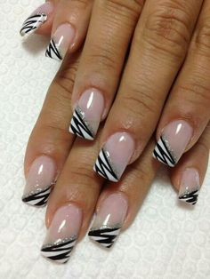 French tip gelnails nashnails Nail Manicure, Diy Nails, Cute Nails, Pretty Nails, French Nail Designs, Nail Polish Designs, Nail Art Designs, French Nails, Jolie Nail Art