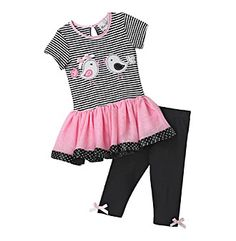 Rare Editions® Baby Girls' Striped Bird Tutu Set at www.bostonstore.com