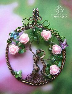 MADE TO ORDER: Persephone Greek Goddess Tree of Life Wire Wire Pendant, Wire Wrapped Pendant, Wire Wrapped Jewelry, Metal Jewelry, Pendant Jewelry, Gold Jewelry, Jewelery, Greek Jewelry, Quartz Jewelry