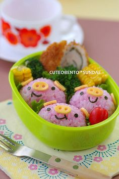 three little pigs bento