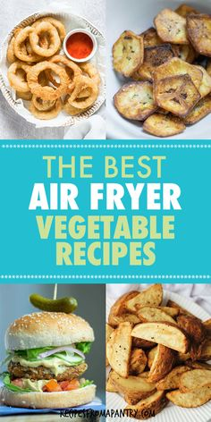 Tired of the same old bland and dull veggies? These awesome Air Fryer Vegetable Recipes are exactly what you need! With the air fryer, all it takes is just a few mins & a tiny bit of oil to serve up crave-worthy veggies that are tender in the middle & delightfully crunchy on the outside. Includes both fresh & frozen vegetables, potatoes and burgers. Click for the crispy Air Fried Vegetable recipes #airfryer #airfryerrecipes #airfryervegetables #eatyourveggies #airfried #air-fryer #vegetables Air Fried Vegetable Recipes, Keto Veggie Recipes, Air Fryer Recipes Vegan, Air Fryer Dinner Recipes, Air Fryer Healthy, Lunch Recipes, Appetizer Recipes, Breakfast Recipes, Healthy Recipes