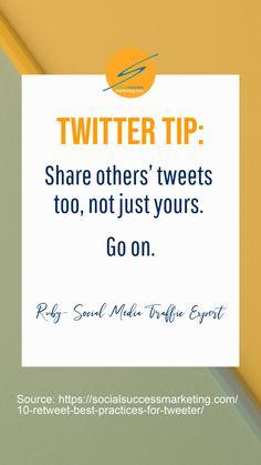 Retweet Best Practices for Tweeters   How to Quote Tweet Properly  #TwitterMarketing #TwitterTip #SocialMediaMarketing  #businessgrowth Twitter For Business, Twitter Tips, Tweet Quotes, Best Practice, Social Media Marketing, Success