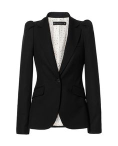 BLAZER WITH GATHERED SHOULDERS from Zara. Looks kinda cheap IRL, but I like the shape in this image.
