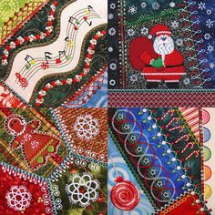 Molly Mine Christmas Crazy Quilt Series 2 Pt. 4 released July 11, 2012.  Artist/Entrepreneur Linda Atwill of Molly Mine creates exquisite machine embroidery designs based on her original artwork.  I am honored to be her machine embroidery design tester for the Viking Husqvarna embroidery sewing machine platform.