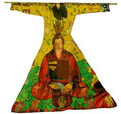 Buddha Robe - mixed media on canvas  by Janet Taylor Pickett