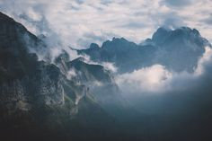 Fog over the Appenzell Alps.