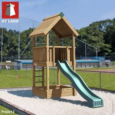 Hy-Land Professional Project 2 Climbing Frame with Slide
