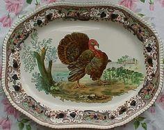 Spode Turkey Platter | Copeland Late Spode Turkey Platter | The Webmasters Antiques