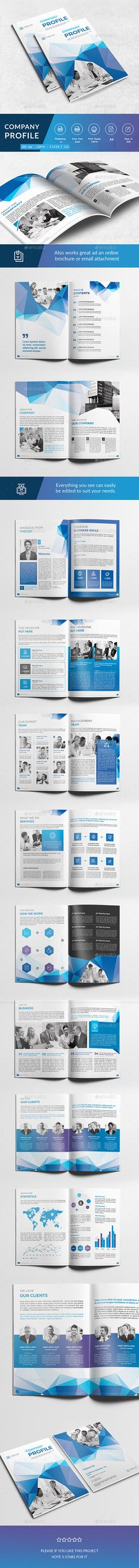 Company Profile Template Company profile, Brochures and Brochure - company profile sample download