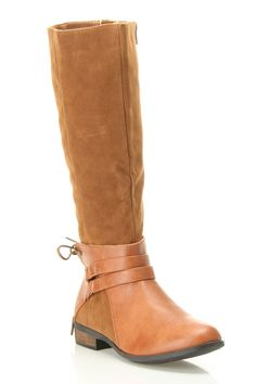 {Molly-01 Tie Buckle Boot In Cognac} Westwood