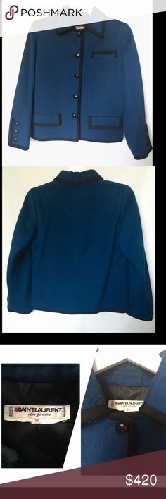 Selling this Vintage Saint Lauren rive gauche jacket on Poshmark! My username is: angelspace. #shopmycloset #poshmark #fashion #shopping #style #forsale #Saint Laurent #Jackets & Blazers