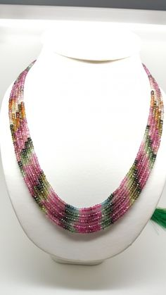 Tourmaline Necklaces 4 x 4 x 284 carats Auction Gem Rock Auctions Diy Jewelry Necklace, Bead Jewellery, Gems Jewelry, Strand Necklace, Jewelery, Beaded Necklace, Quartz Jewelry, Gemstone Necklace, Beaded Jewelry Designs