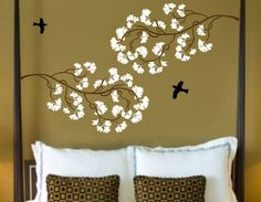 Another beautiful wall-art design for behind the bed.