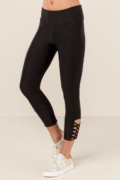 Dinah Solid Cutout Leggings