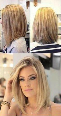 Medium Hair Cuts, Medium Hair Styles, Curly Hair Styles, Haircut Medium, Lob Haircut Straight, Medium Bobs, A Line Haircut, Medium Length Bobs, Curly Bangs