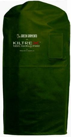 Bedbug Bag Garment Bag, 4 in 1 KiltreX Fabric Bed Bug Killing Shield Bag , Garment Travel Bag by Green Garmento  4 in 1 Garment Bag with Kiltrex Fabric Bedbug Shield. $12.99. Kills, Decontaminates, and shields against bebug infestations. Kiltrex Fabric kills bedbugs , Lice, mites, scabies, Fleas, Ticks, Cockroaches, German Cockroaches, Silverfish and Carpet Beetles. Prevent inadvertent infestations and costly remediation by covering your clothing when you travel outside your h...