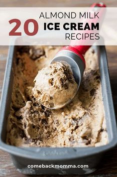 keto ice cream The weather has finally started to warm up for spring and summer wont be far behind. It is the perfect time to start thinking about delicious homemade almond milk ice crea Helado Keto, Keto Eis, Almond Milk Recipes, Homemade Almond Milk, Homemade Healthy Ice Cream, Almond Milk Desserts, Almond Milk Popsicles, Lactose Free Homemade Ice Cream, Recipes With Milk