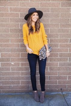 love the mustard sweater!  #fashion #style #sweaters